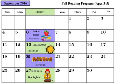September 2016 Preschool Readingrs