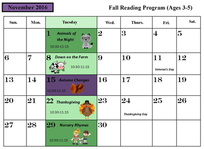 November 2016 Preschool Reading small