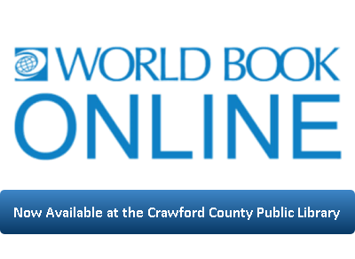 World Book Online is now available at  the Crawford County Public Library
